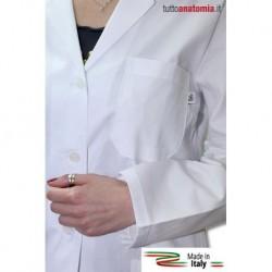 Camice da medico da donna, in gabardina di cotone